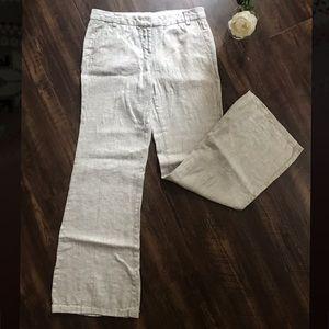 J. Crew 100% Linen Pants Cream Color